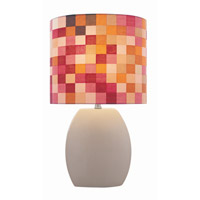 Lite Source Reiko 1 Light CFL Table Lamp in Latte with Colored Fabric LS-21506LATTE