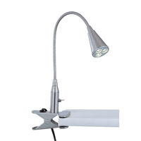 Lite Source Maxx I LED Clamp-on Lamp in Polished Steel LS-21565PS