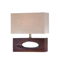 Pierre 14 inch 13 watt Dark Walnut Table Lamp Portable Light