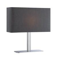 Lite Source LS-21797C/BLK Levon 15 inch 40 watt Chrome Table Lamp Portable Light