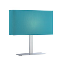 Lite Source LS-21797C/BLU Levon 15 inch 40 watt Chrome Table Lamp Portable Light