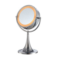 Lite Source Vogue 2 Light Mirror Table Lamp in Chrome LS-21813C