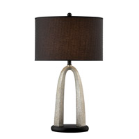 Bambina 32 inch 150 watt Silver and Black Table Lamp Portable Light