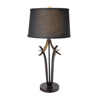 Bourne 33 inch 23 watt Antique Bronze Table Lamp Portable Light