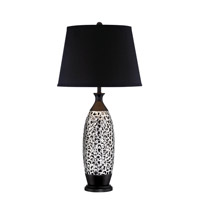 Renzo 31 inch 23 watt Chrome and Black Table Lamp Portable Light