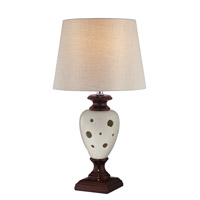 Lite Source LS-22022 Piri 24 inch 100 watt Ceramic Table Lamp Portable Light