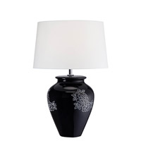 Lite Source LS-22033 Aileen 23 inch 23 watt Black Ceramic Table Lamp Portable Light