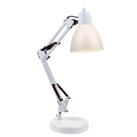 Karsten 21 inch 13 watt White Desk Lamp Portable Light