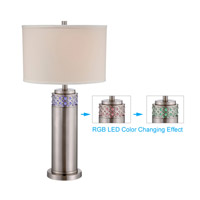 Lite Source LS-22141 Cinzia 31 inch 23 watt Polished Steel and Clear Table Lamp Portable Light