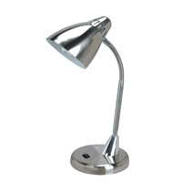 Lite Source Breeze 1 Light CFL Desk Lamp in Polished Steel and Chrome LS-221PS/C