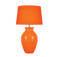 Lite Source Maya 1 Light CFL Table Lamp in Orange Ceramic with Orange Fabric Shade LS-22219ORN