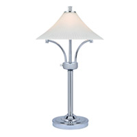 Lite Source Ragnar 2 Light CFL Table Lamp in Chrome with Frost Glass Shade LS-22229