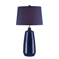 Lite Source Ailani 1 Light Table Lamp in Blue with Blue Fabric Shade LS-22237BLU