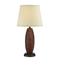 Lite Source Pina 1 Light CFL Table Lamp in Two-Tone with Light Green Fabric Shade LS-22245