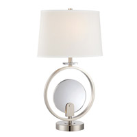 Lite Source Lexie 7 Light Table Lamp in Polished Steel LS-22293