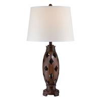 Lite Source Norah 1 Light Table Lamp in Dark Walnut LS-22297