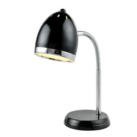 Zachary 16 inch 13 watt Black Desk Lamp Portable Light