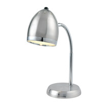 Zachary 16 inch 13 watt Chrome Desk Lamp Portable Light