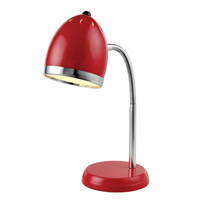 Lite Source Zachary 1 Light Desk Lamp in Red LS-22311RED