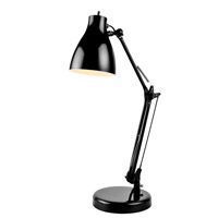 Lite Source Karolina 1 Light Desk Lamp in Black LS-22312BLK