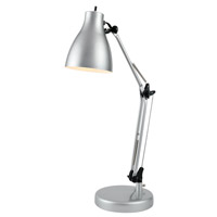 Lite Source Karolina 1 Light Desk Lamp in Silver LS-22312SILV