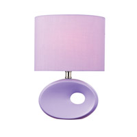 Lite Source Hennessy II 1 Light CFL Table Lamp in Lavender Ceramic with Lavender Fabric LS-22315LAV