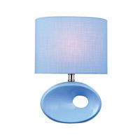Lite Source LS-22315L/BLU Hennessy II 13 inch 60 watt Blue Ceramic Table Lamp Portable Light