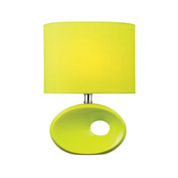 Lite Source Hennessy II 1 Light CFL Table Lamp in Green Ceramic with Green Fabric Shade LS-22315L/GRN