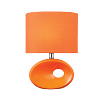 Lite Source Hennessy II 1 Light CFL Table Lamp in Orange Ceramic with Orange Fabric LS-22315ORN