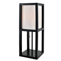 Lite Source Elske 1 Light CFL Table Lamp in Black with White Fabric Shade LS-22317