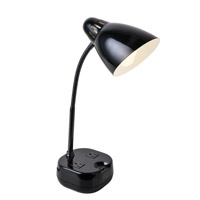 Lite Source Kade 1 Light Desk Lamp in Black LS-22375BLK