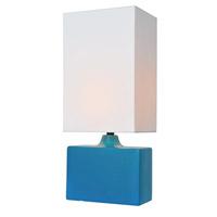 Lite Source Kara 1 Light Table Lamp in Aqua LS-22378AQUA