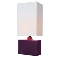 Lite Source Kara 1 Light Table Lamp in Purple LS-22378PURP