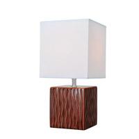 Lite Source Kube 1 Light Table Lamp in Coffee LS-22379COFFEE