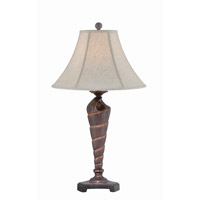 Lite Source Conch 1 Light Table Lamp in Dark Bronze Sea Shell LS-22419