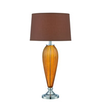 Lite Source LS-22470TAWNY Mekelle 32 inch 23 watt Tawny Chrome Table Lamp Portable Light