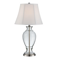 Lite Source Serena 1 Light Table Lamp in Polished Steel and Clear LS-22503