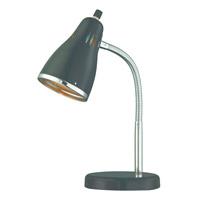 Lite Source Kris 1 Light Desk Lamp in Chrome LS-22535BLK