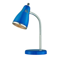 Lite Source Kris 1 Light Desk Lamp in Chrome LS-22535BLU