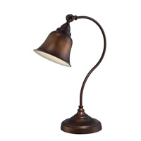 Gianna 21 inch 13 watt Antique Copper Desk Lamp Portable Light