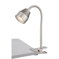 Nobu 16 inch 5 watt Polished Steel Clip-on Lamp Portable Light