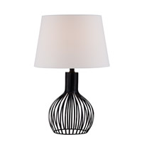 Lite Source Earleen II 1 Light Table Lamp in Black LS-22743
