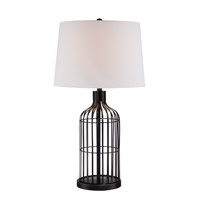 Lite Source Earnest 1 Light Table Lamp in Black LS-22870