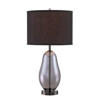 Lite Source LS-22893 Ovadia 24 inch 23 watt Gun Metal and Smoked Chrome Table Lamp Portable Light