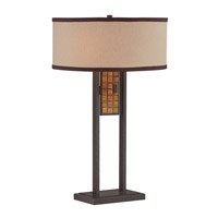 Lite Source LS-22896 Marquetta 25 inch 13 watt Aged Bronze and Brown Table Lamp Portable Light