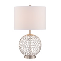 Lite Source LS-22899 Mabon 23 inch 23 watt Polished Steel Table Lamp Portable Light