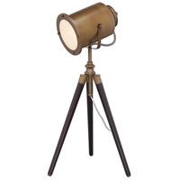 Lite Source LS-22940 Saga 32 inch 23 watt Brass and Natural Table Lamp Portable Light