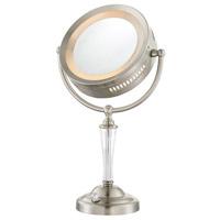 Lite Source LS-22942 Vogue 19 inch 7 watt Brushed Nickel Table Lamp Portable Light