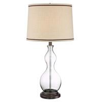 Lite Source LS-23013 Carolina 30 inch 23 watt Clear and Dark Bronze Table Lamp Portable Light