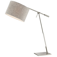Lite Source LS-23050 Lucilla 36 inch 60 watt Brushed Nickel Table Lamp Portable Light